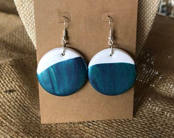 Acrylic Dipped Disc Dangles