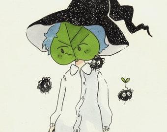 Leaf Boy (Small Print)