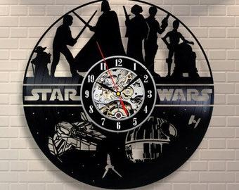 Birthday Gift For Boyfriend Yoda Art Darth Vader Wall Clock Modern Star Wars Luke Skywalker Room Decore Star Wars Vinyl Record Wall Clock