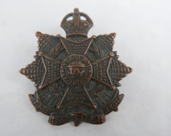 KINGS OWN ROYAL BORDER REGIMENT CAP BADGE PRINTED ON A METAL SIGN 5 x 7 INCHES.