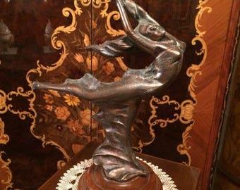 Candle holder-bronze dancer