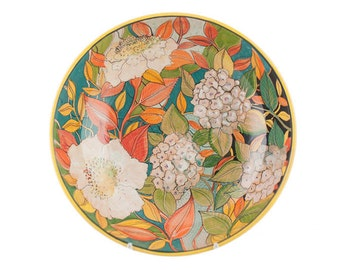 Bowl for Pasta or salad 40 cm with flowers and hydrangeas-Classic flowers line