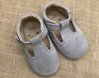 Suede Leather Baby Toddler Girls Mary Jane Shoes