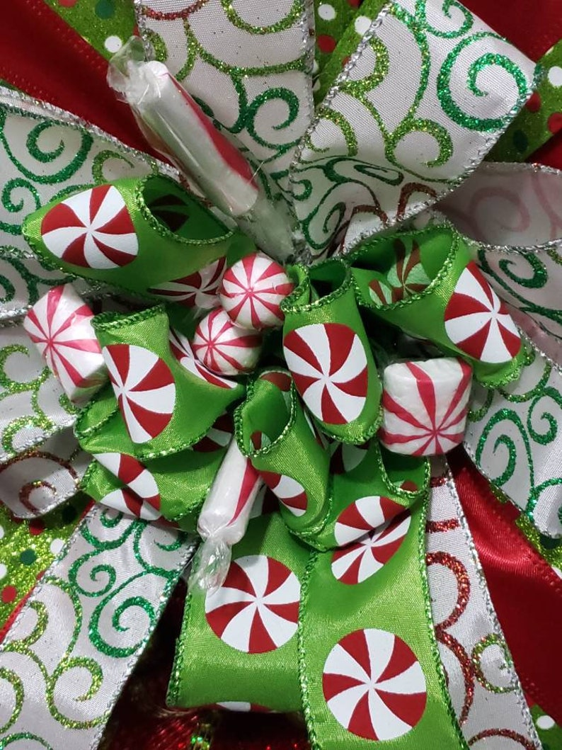 Candy Cane Wreath Candy Christmas Wreath Red Candy Cane Wreath Christmas Wreath for Front Door