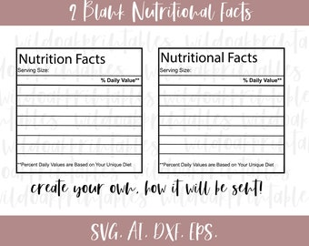 Nutrition Facts Svg Etsy
