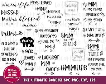 40 Designs!! ultimate mimi life svg, mimi svg, mimi svg bundle, funny mimi svgs, blessed mimi svgs, baseball mimi svgs, funny mimi quotes,