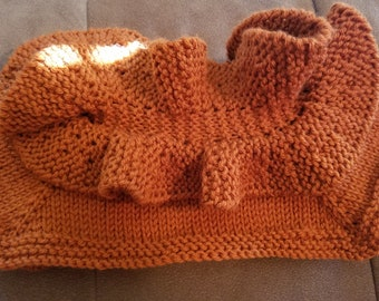 cowls and scarves and hats