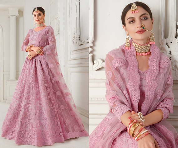 Sea Green Embroidered Designer Net Lehenga Choli Dupatta for Women /& Girlish Indian Bridesmaid South Asian Bridal Wedding Dresses Outfits