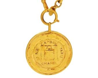 Vintage Chanel necklace 31 rue cambon paris medallion #ne712