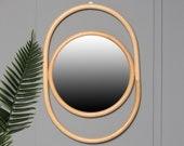 Rattan Mirror round natural decoration