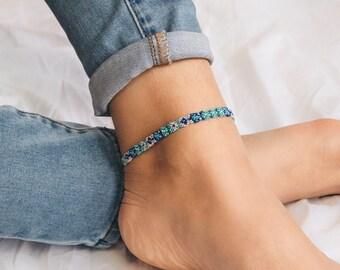 Handmade ankle bracelet, Anklets for women, Friendship anklet, Beach anklet, Adjustable anklet, Handmade, Summer anklet, Pineapple Island