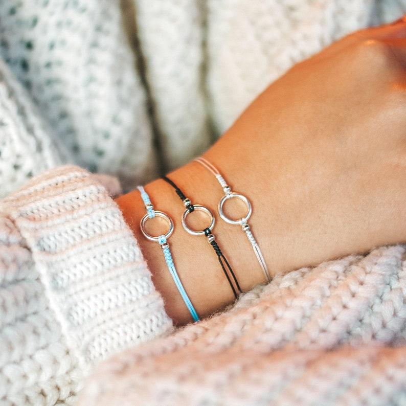 Eternity bracelet Bead bracelet Bracelet for woman image 1