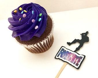 fortnite cupcake toppers set of 12 - diy fortnite cupcakes