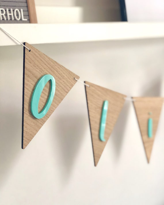 Personalised Wooden Bunting, name bunting, child's bedroom/nursery decor