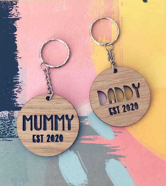 Personalised Family Key Ring, new parent gift, mother's day gift, fathers day gift, grandparents gift