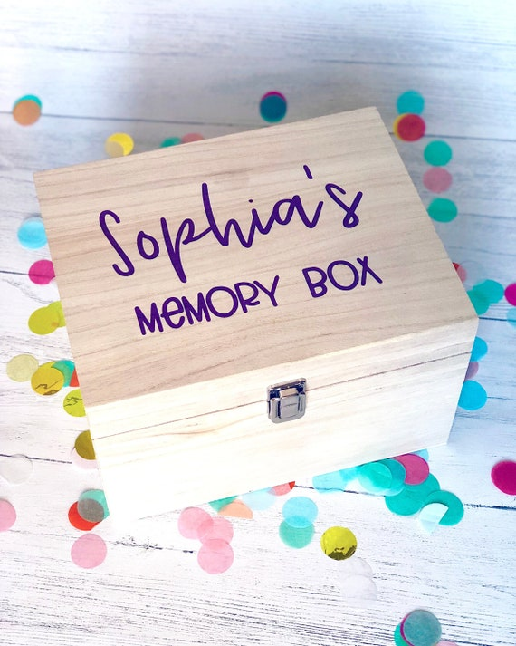 Personalised Memory Box, wooden box, new baby gift