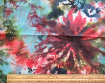 Teal Blue  and Pink Batik -  1/2 Yard  B-1/2-16