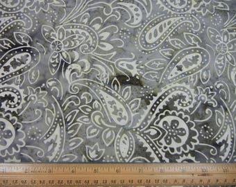 Gray Paisley Batik - 1/2 Yard