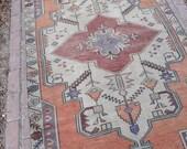 Oushak Rug, Turkish Vintage Rug, Vintage Oushak Rug, Home Living 8. x 4.1 feet 245 x 127 cm