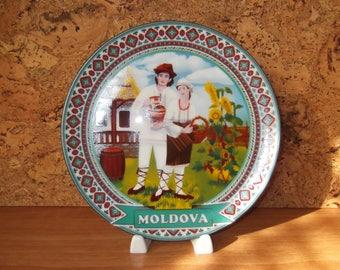 Decorative Souvenir Plate, Souvenir Collectible Plate, Wall Souvenir State Plate, Collectible Decorative State Wall Plate, Moldova Souvenir