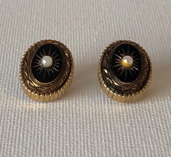 Vintage yellow enamel earrings Retro rhombus clip on earrings Antique enamel jewelry Signed Sphinx non pierced earrings Bridesmaid jewelry