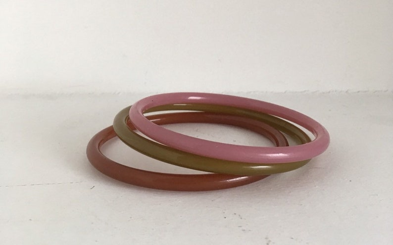 Sale Sweet soft pastel set of three bangles