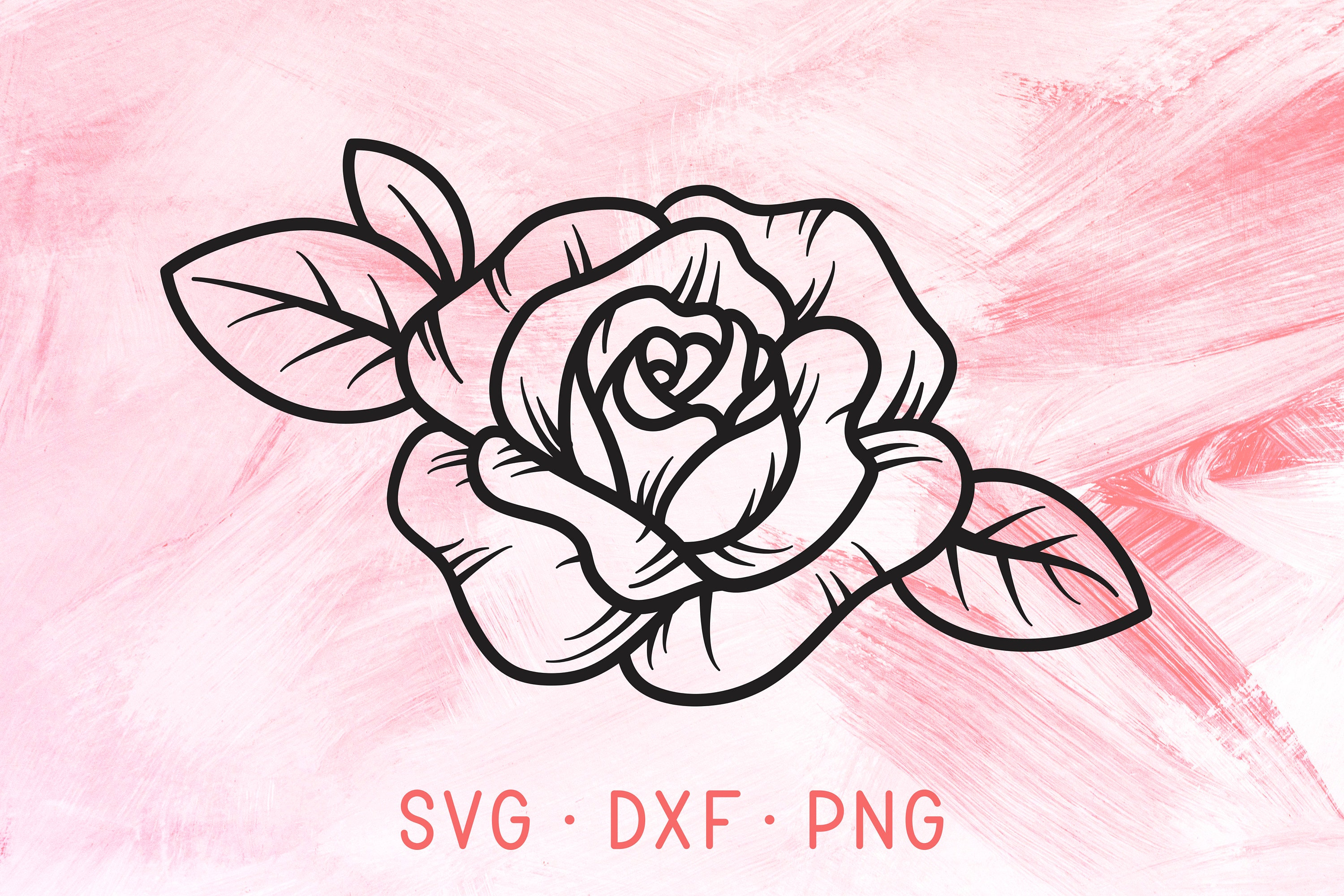 Download Rose Flower SVG DXF PNG Files For Cricut Or Silhouette ...