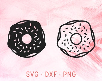 Donut SVG DXF PNG, Doughnut Svg, Food Svg, Silhouette Svg Files For Cricut, Donuts Svg, Svg Bundle, Donut Cut File, Doughnuts Svg, Sweets