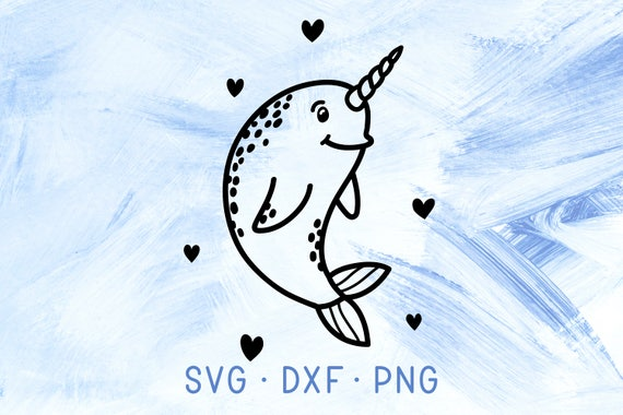 Narwhal Design Cute Narwhal Png Clipart Fish Design Cute Narwahl Instant Download Narwhal Cut File Cut File Svg Narwahl Cute Drawing