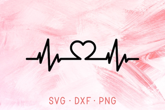 Heartbeat Svg Dxf Png Heartbeat Svg File Medical Nurse Svg Etsy