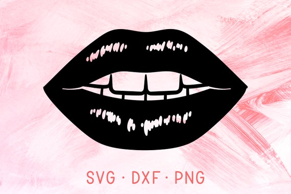 Glossy Sexy Lips Svg Dxf Png File For Cricut Kissing Lips Etsy