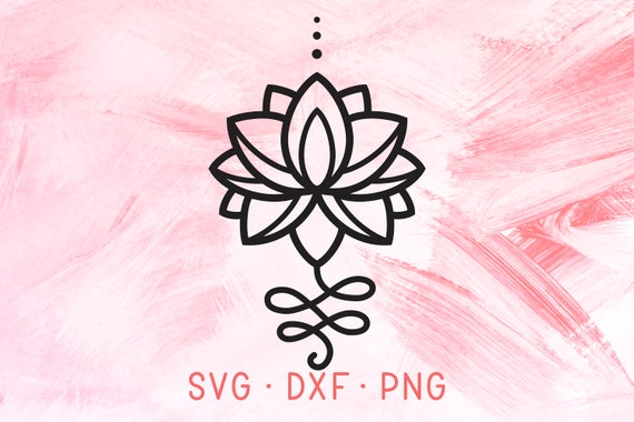 Unalome Lotus Flower Svg Files For Cricut Silhouette Yoga Etsy