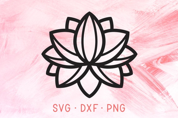 Simple lotus unalome design svg cute pretty flower svg dxf etsy image 0 mightylinksfo