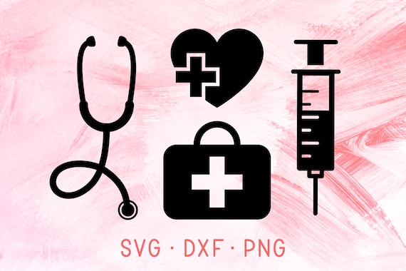 Nurse Kit Svg Dxf Png Nurse Bundle Svg Nursing Medical Etsy