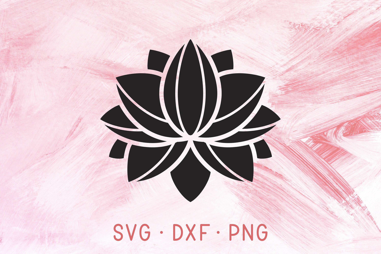 Lotus Flower Svg Dxf Png Cutting Files Mandala Floral Etsy
