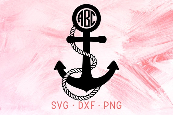 Anchor Monogram Svg Dxf Png Design Svg Files For Cricut Etsy