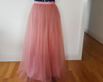 Beautiful Soft and Flowy Bridesmaids Tulle Skirt with Custom Length, Waist and Colour!!