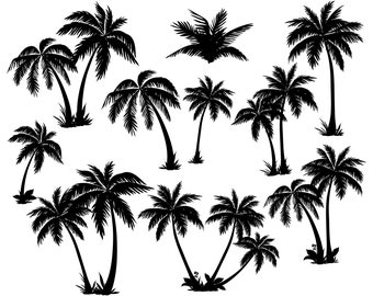 60bdb8394 Palm tree, Palm, Tropical, Silhouette ,SVG,Graphics,Illustration,Vector,Logo,Digital,Clipart