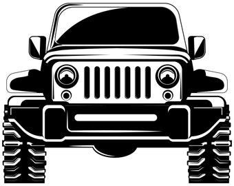 Jeep Clip Art Etsy