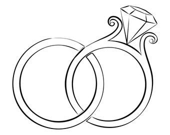 Wedding ring clipart | Etsy