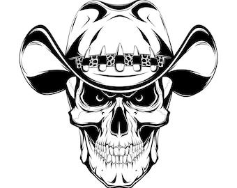 Cowboy skull SVG 3616b3cad