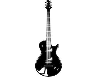 guitar silhouette etsy