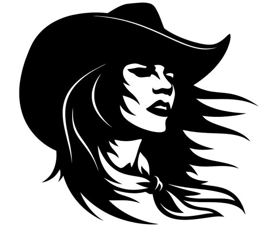 cowgirl svg country girl svg western head face woman etsy