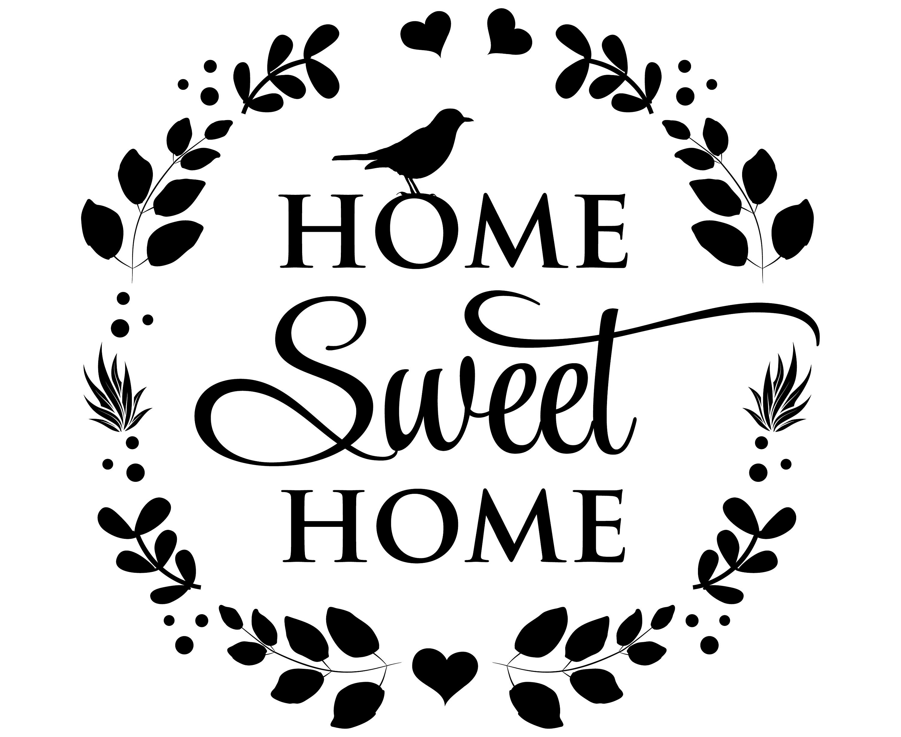 Home sweet home SVG Home SVG quotes Home quote SVGSvg | Etsy