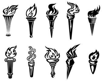 Torch, Olympic torch, SVG,Graphics,Illustration,Vector,Logo,Digital,Clipart