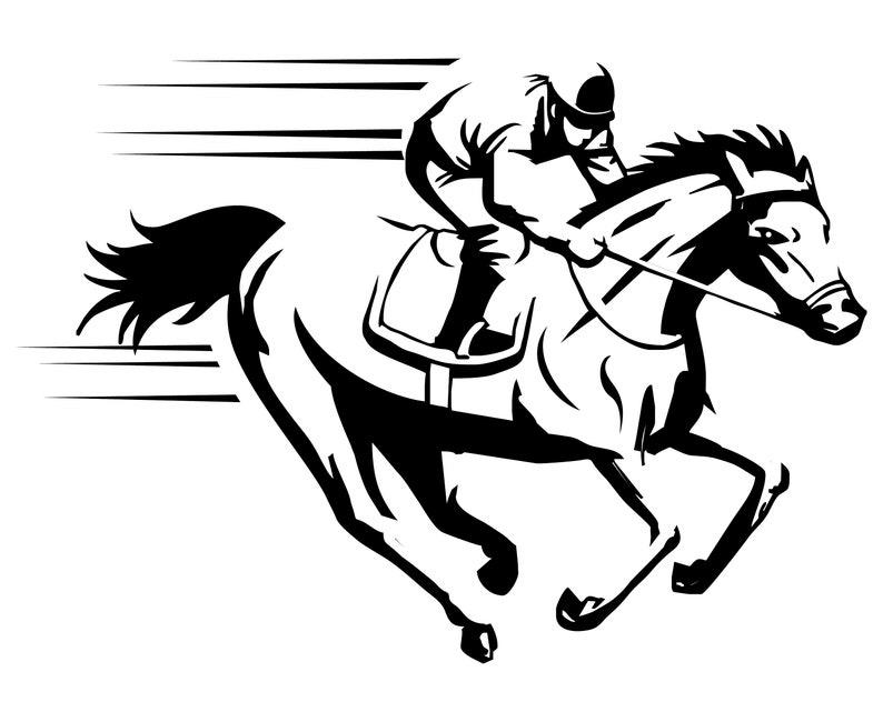 Race Horse Silhouette Clipart