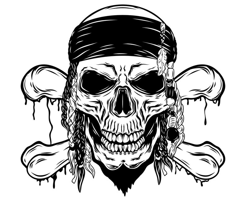 Skull And Crossbones Skull Crossbones Pirate Etsy