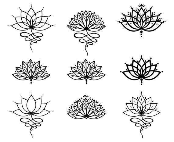 Lotus Flower Lotus Outline Etsy