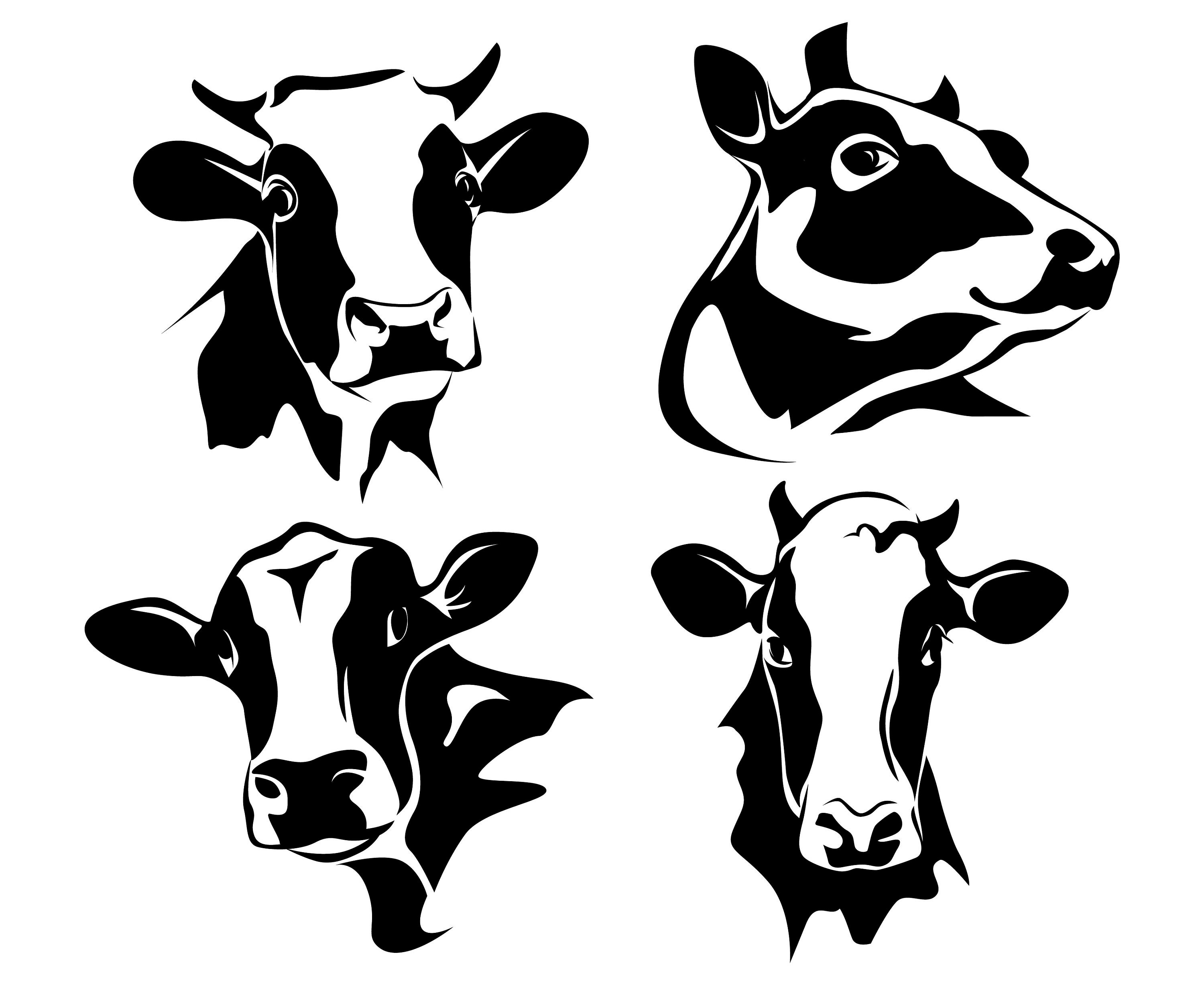 Dairy Cow Silhouette at GetDrawings | Free download |Dairy Cow Head Profile