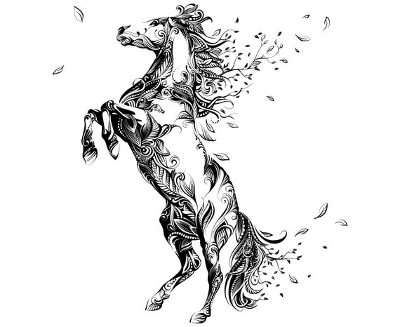 Mandala horse svg mandala svghorse mandala etsy - Mandala de chevaux ...